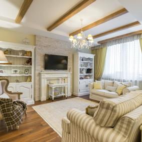 salon moderne dans la conception de photos d'appartement