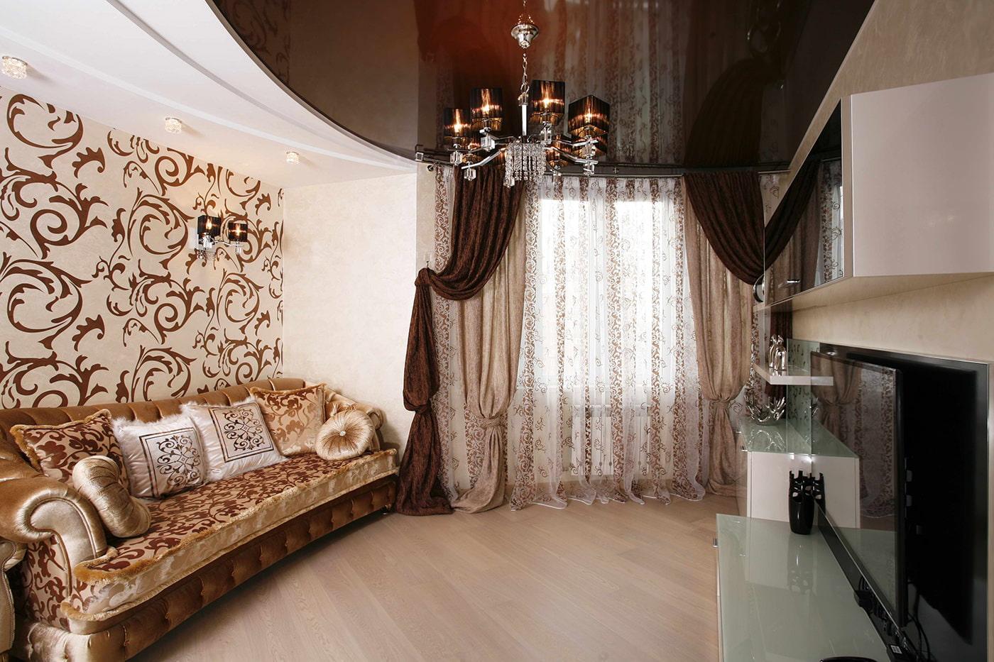 rideaux à l'intérieur du salon