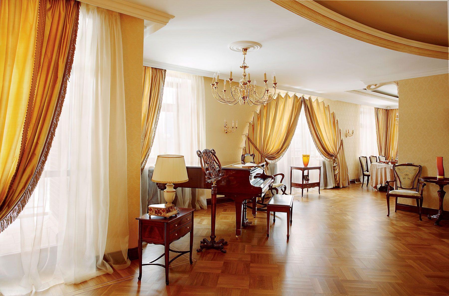 rideaux dans un salon moderne