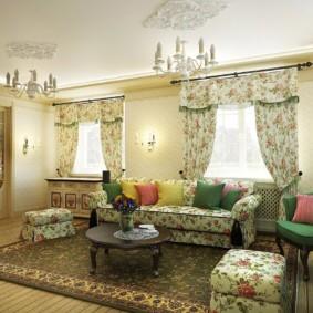 rideaux dans le hall sur deux idées de conception de fenêtres