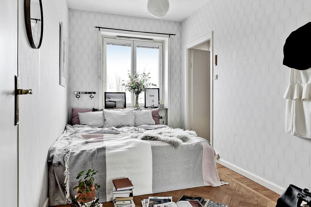 Petite chambre de style scandinave