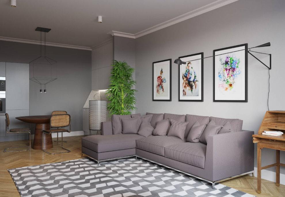 Hall d'appartements de style scandinave