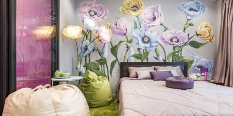 papier peint photo moderne dans les idées de décoration de l'appartement