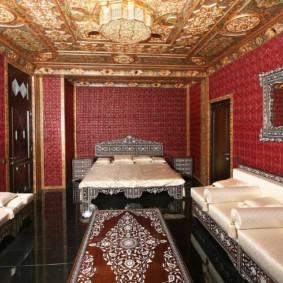 intérieur de la chambre dans des idées de conception de style oriental