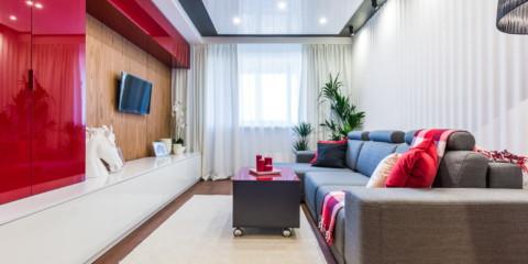 plafond tendu de salon de style moderne