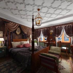 salle intérieure dans un décor photo de style oriental