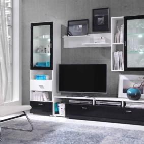idées de mur de télévision en verre
