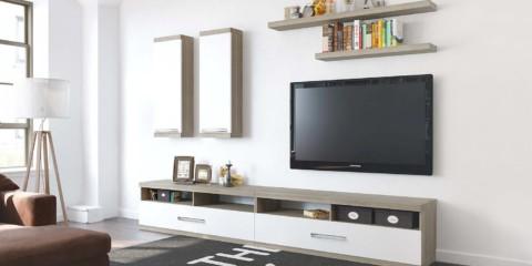mur TV minimaliste