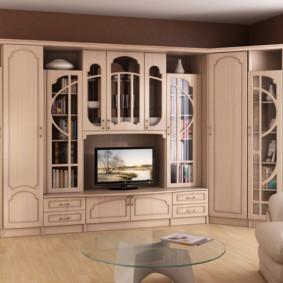 Mur TV dans la conception d'idées de salon