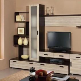 Mur TV dans les idées de conception de salon