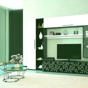 mur pour la télévision dans le décor du salon
