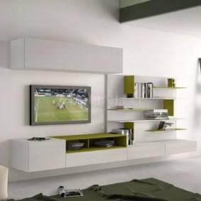 mur pour la télévision dans le décor photo du salon