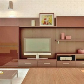 mur pour la télévision dans le salon idées de décoration