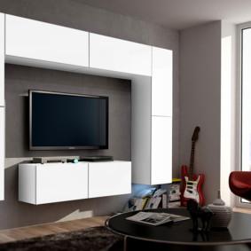 mur pour la télévision à l'intérieur du salon