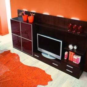 mur pour la télévision dans le salon photo intérieur