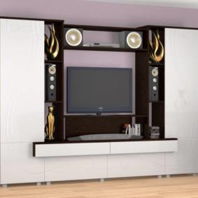 mur pour la télévision dans le salon idées intérieures