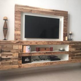 Mur de télévision à l'intérieur des idées de salon