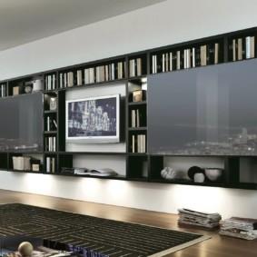 Mur TV dans les idées intérieures du salon