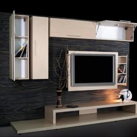 mur pour la télévision dans le salon photo décoration