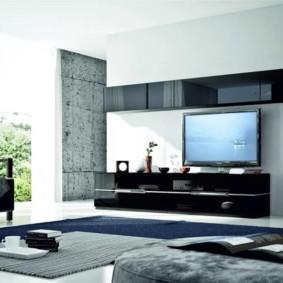 mur pour un téléviseur dans le salon