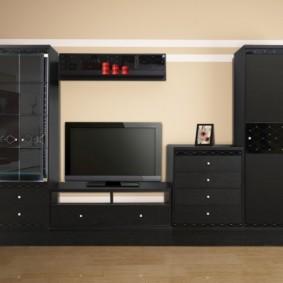 mur pour la télévision dans les idées de conception de salon