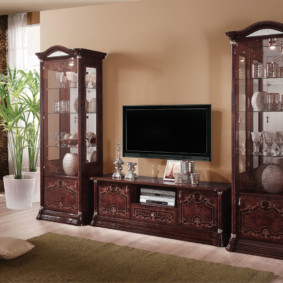 Mur TV dans les options du salon