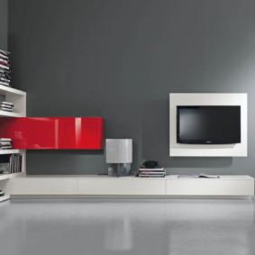 un mur pour une télé dans le salon