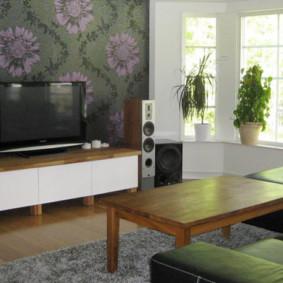 mur pour un téléviseur dans le salon idées photo
