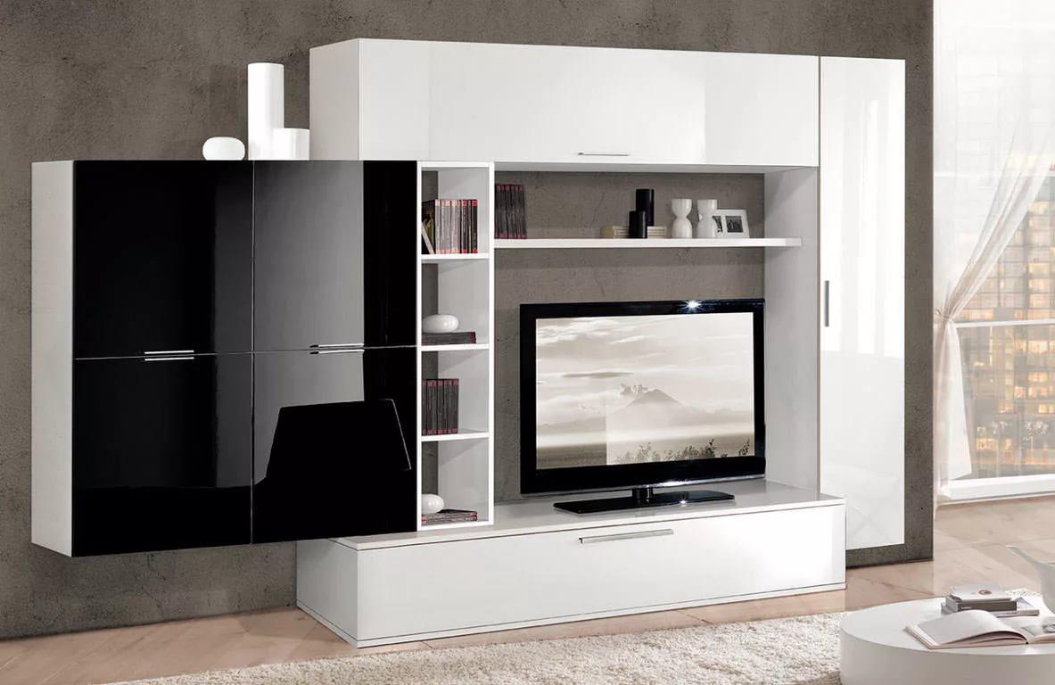 Mur TV dans les idées de salon