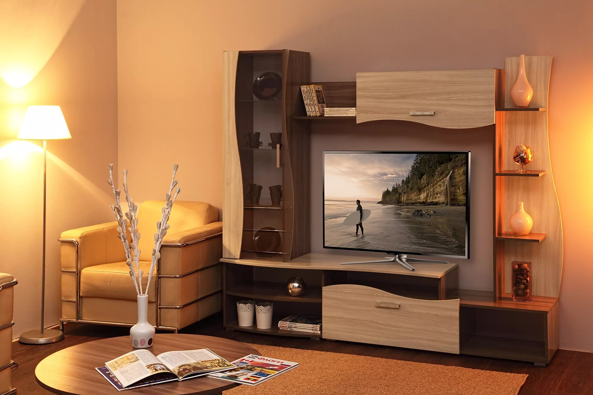 Mur TV dans le salon
