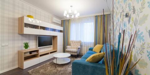 mur dans le style moderne de la salle