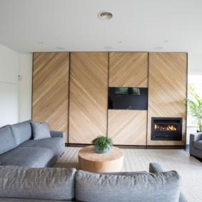 salon moderne dans des idées de design d'appartement