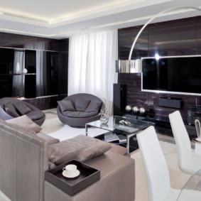 salon moderne dans le décor de l'appartement