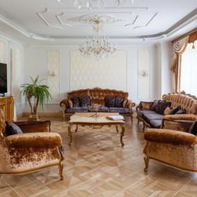 salon moderne dans le décor photo de l'appartement