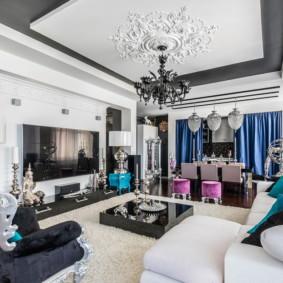 salon moderne dans l'appartement photo