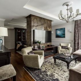 salon moderne dans l'appartement photo intérieur
