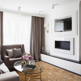 salon moderne dans la photo intérieure de l'appartement