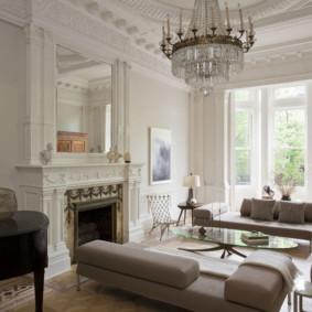 salon moderne dans des idées d'intérieur d'appartement