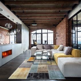 salon moderne dans des idées de décoration d'appartement
