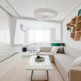 phòng khách màu sắc tươi sáng