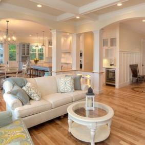 salon moderne dans les options d'idées d'appartement
