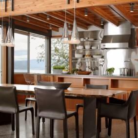 table en pierre artificielle dans les idées de décoration de cuisine