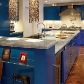 table en pierre artificielle pour la conception de la cuisine