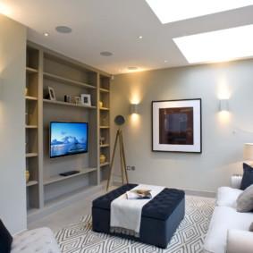 Thiết kế phòng khách với kệ thạch cao