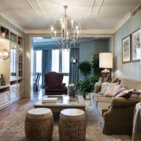 Nội thất phòng khách theo phong cách tân cổ điển