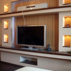 Vách thạch cao trên tường TV