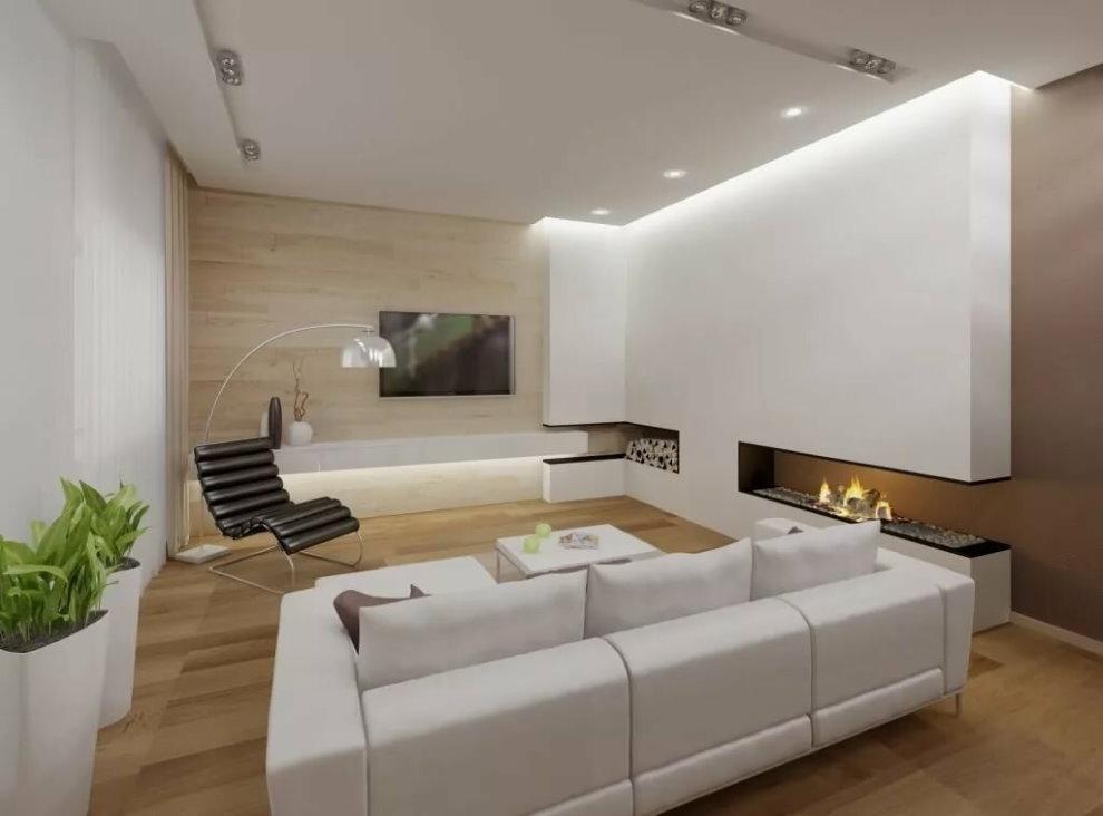 Éclairage minimaliste de la pièce