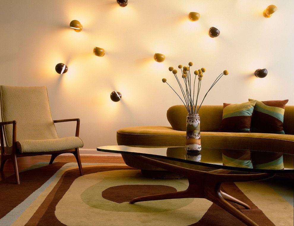 Ánh sáng địa phương nguyên bản trong một căn phòng hiện đại