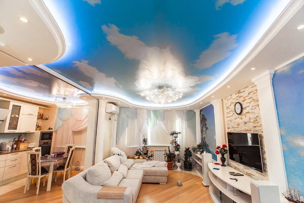 Éclairage de plafond extensible avec impression photo