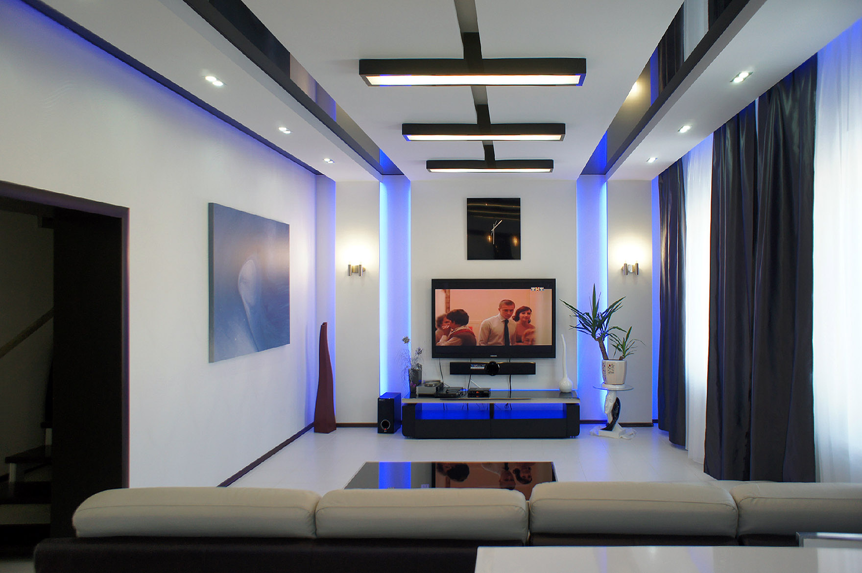 Éclairage LED des pièces de l'appartement